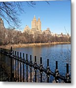 Fence With Twin Towers, San Remo Metal Print by Federica Gentile