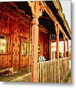Fiddletown Saloon Metal Print by Cheryl Young