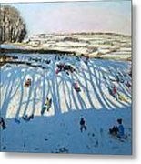 Fields Of Shadows Metal Print by Andrew Macara