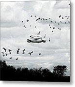 Final Flight Of The Enterprise Metal Print by Tolga Cetin