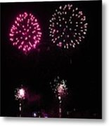 Fire Works Metal Print by Yumi Johnson