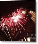 Firework Display Metal Print by Bernard Jaubert
