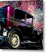 Fireworks In The Ford Metal Print by Suni Roveto
