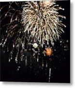 Fireworks Metal Print by Michelle Calkins