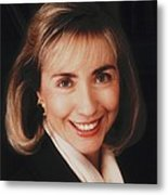 First Lady Hillary Clinton In A 1992 Metal Print by Everett