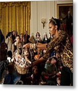 First Lady Michelle Obama Hands Metal Print by Everett
