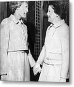 First Lady Patricia Nixon Hold Hands Metal Print by Everett