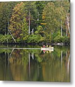Fish Creek Pond In Adirondack Park - New York Metal Print by Brendan Reals