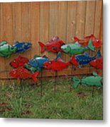 Fish From Cars Metal Print by Ben Dye