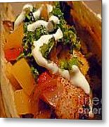 Fish Taco With Mango Salsa Metal Print by Renee Trenholm