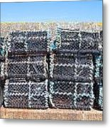 Fishing Baskets Metal Print by Tom Gowanlock