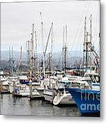Fishing Boats In Pillar Point Harbor At Half Moon Bay California . 7d8208 Metal Print by Wingsdomain Art and Photography