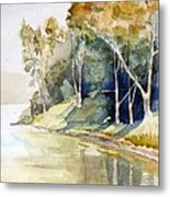 Fishing Lake Metal Print by Stephanie Aarons