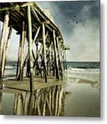 Fishing Shack Pier Metal Print by Jody Trappe Photography