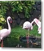 Flamingo Party Metal Print by Silvie Kendall