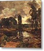 Flatford Mill From The Lock Metal Print by John Constable