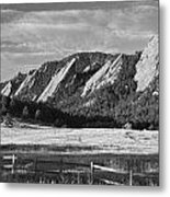 Flatirons From Chautauqua Park Bw Metal Print by James BO  Insogna
