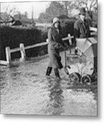 Flooding At Twyford Metal Print by Reg Speller