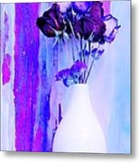 Floral Abstract Signed Metal Print by Marsha Heiken