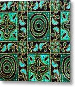 Floral Fabric Pattern Metal Print by Phalakon Jaisangat