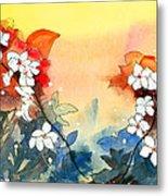 Floral Neklace Metal Print by Anil Nene