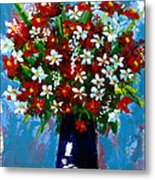 Flower Arrangement Bouquet Metal Print by Patricia Awapara