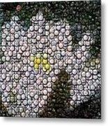 Flower Bottle Cap Mosaic Metal Print by Paul Van Scott