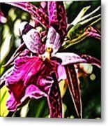 Flower Painting 0002 Metal Print by Metro DC Photography