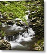 Flowing Mountain Stream Metal Print by Andrew Soundarajan