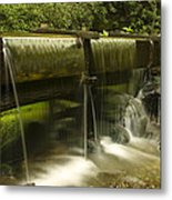 Flowing Water From Mill Metal Print by Andrew Soundarajan