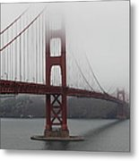 Fog At The San Francisco Golden Gate Bridge - 5d18869 Metal Print by Wingsdomain Art and Photography