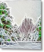 Foggy Morning Landscape 17 - Fractal Abstract Metal Print by Steve Ohlsen