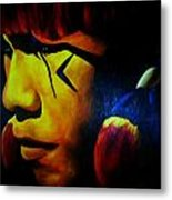 Foreign Face Paint Metal Print by Unique Consignment