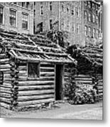 fort nashborough stockade recreation Nashville Tennessee USA Metal Print by Joe Fox