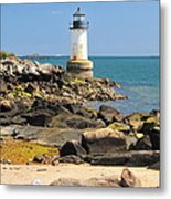 Fort Pickering Lighthouse Metal Print by Catherine Reusch  Daley