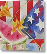 Fourth Of July Metal Print by Amy Householder