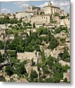 France, Provence, Village Of Gordes Metal Print by Jimmy Legrand