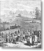 France: Wine Harvest, 1871 Metal Print by Granger