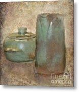 Frankhoma Pottery Metal Print by Betty LaRue
