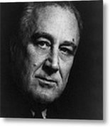 Franklin Delano Roosevelt  - President Of The United States Of America Metal Print by International  Images