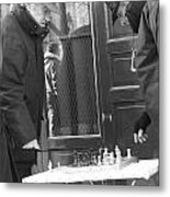 French Checkmate Metal Print by Jennifer Sabir