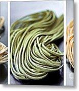 Fresh Tagliolini Pasta Metal Print by Elena Elisseeva