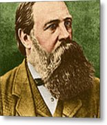 Friedrich Engels, Father Of Communism Metal Print by Photo Researchers