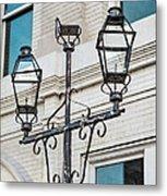Front Street Lamp Metal Print by Brenda Bryant