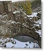 Frozen Sink Hole Metal Print by Roderick Bley