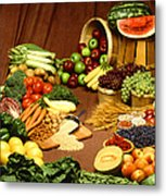 Fruit And Grain Food Group Metal Print by Photo Researchers
