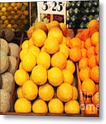 Fruit Market - Painterly - 7d17401 Metal Print by Wingsdomain Art and Photography