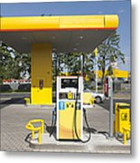 Fuel Pump At A Gas Station Metal Print by Jaak Nilson