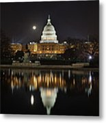 Full Moon At The Us Capitol Metal Print by Metro DC Photography