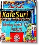 Funky Kafe Suri In Bali Metal Print by Funkpix Photo Hunter